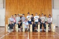6月度例会「熱い想いでつながる地域コミュニティー」手筒花火製作・竹筒作成(縄巻き)