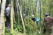 6月度例会「熱い想いでつながる地域コミュニティー」手筒花火製作・竹取り&節落とし